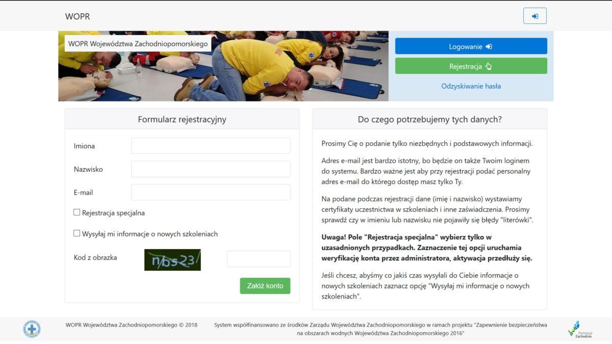 System Zarządzania Organizacją w Terenie – instrukcja rejestracji